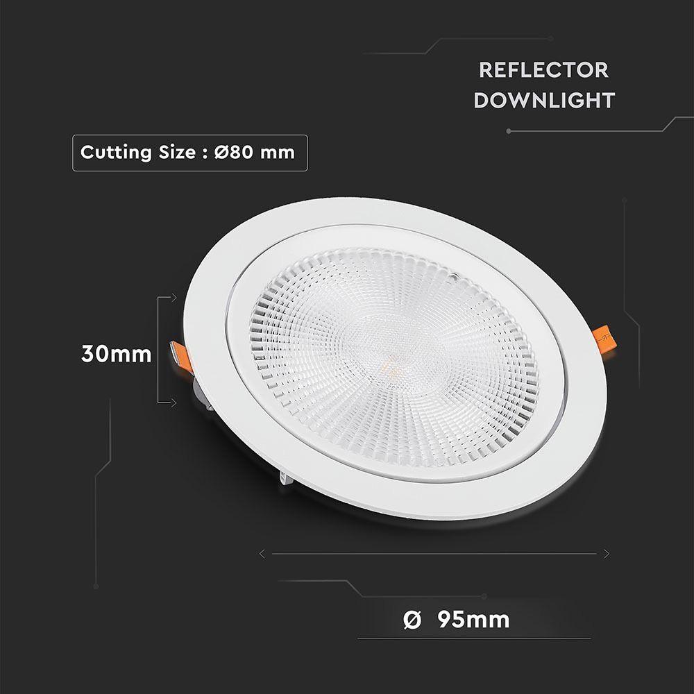 Spot LED 10W, Orientabil, Lumina Calda (3000K) Cip SAMSUNG