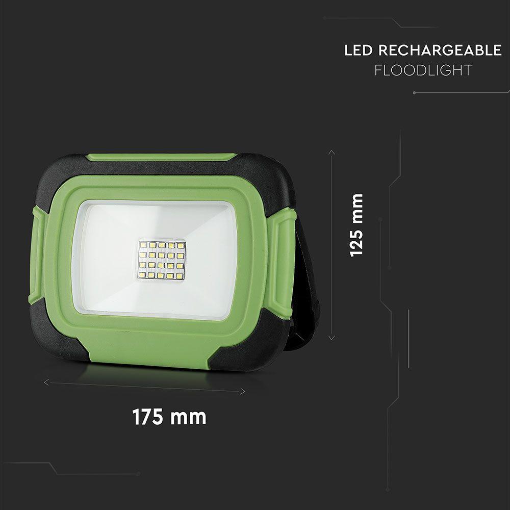 Proiector LED 10W Reincarcabil, IP44, Lumina Rece Cu Cip SAMSUNG