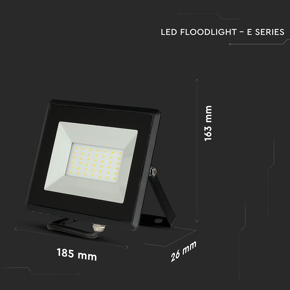 Proietor LED 30W, Seria-E, Corp Negru, Lumina Calda