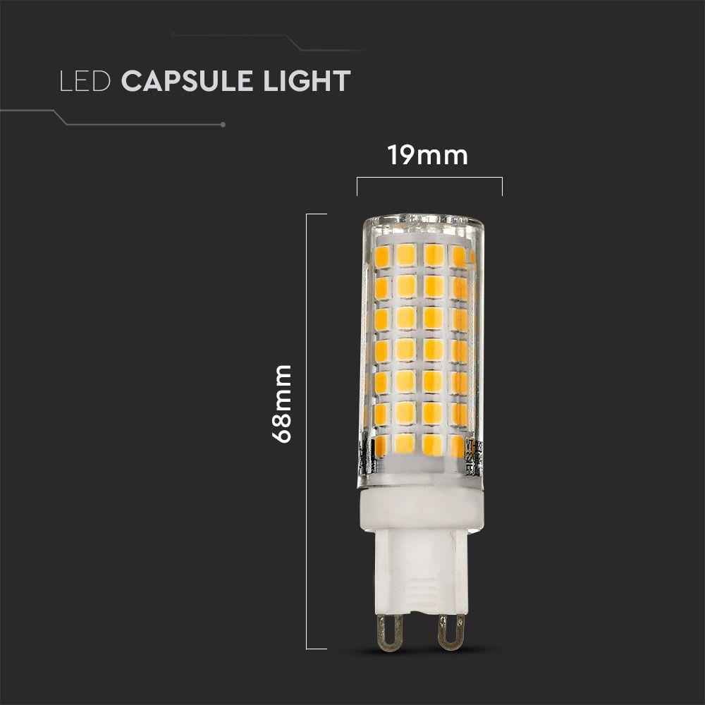 Bec LED 6W, G9, Plastic, Lumina Calda 3000K