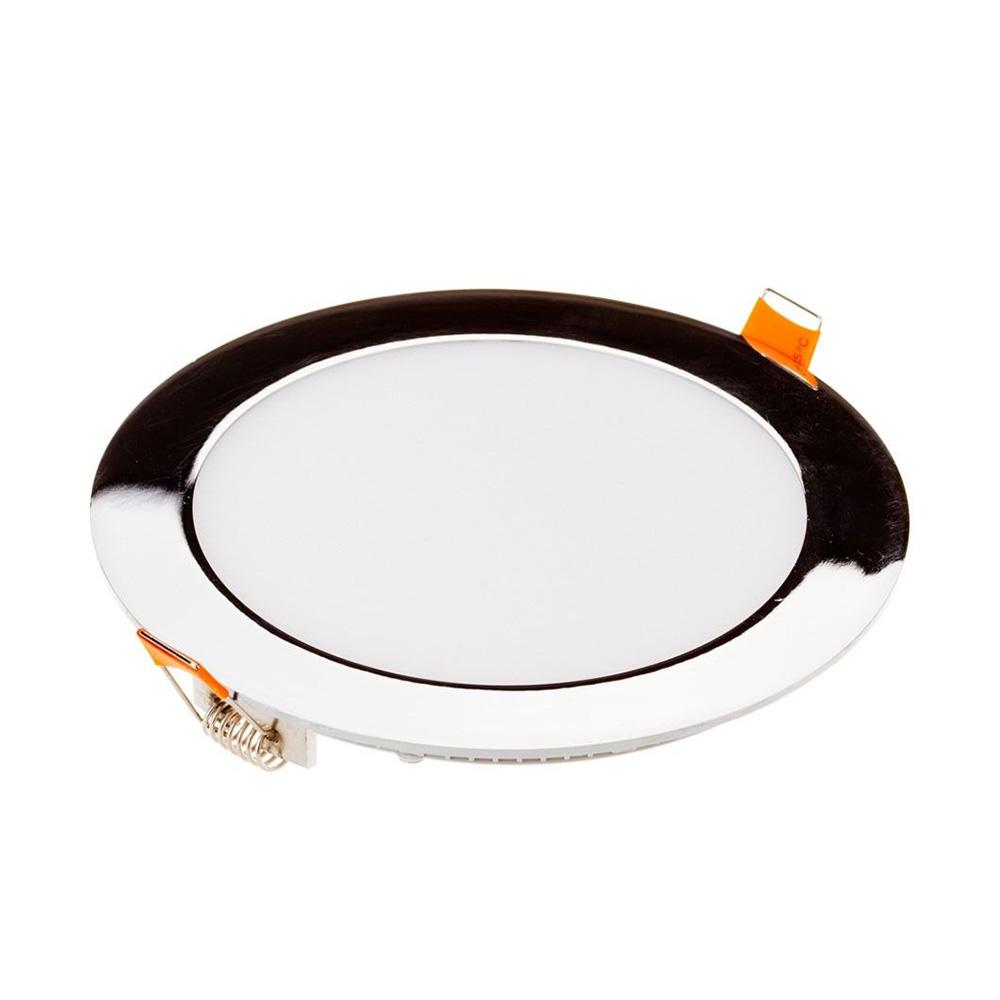 Panou LED Rotund 18W Slim, Cromat, Lumina Naturala 4000K
