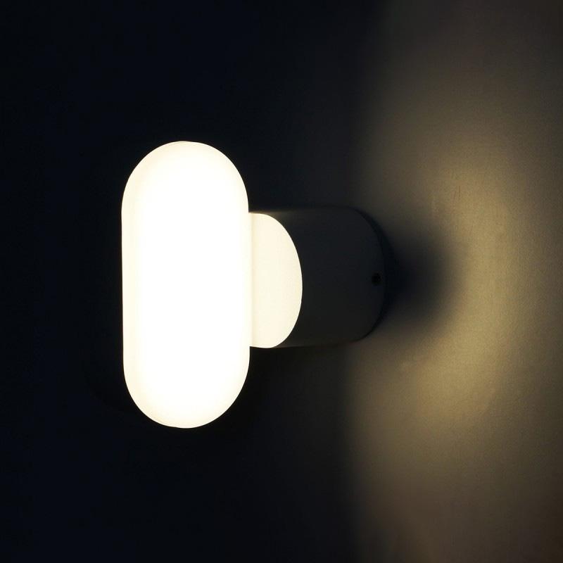 Lampa LED Orientabila 6W, Corp Negru, IP65, Lumina Calda (3000K)