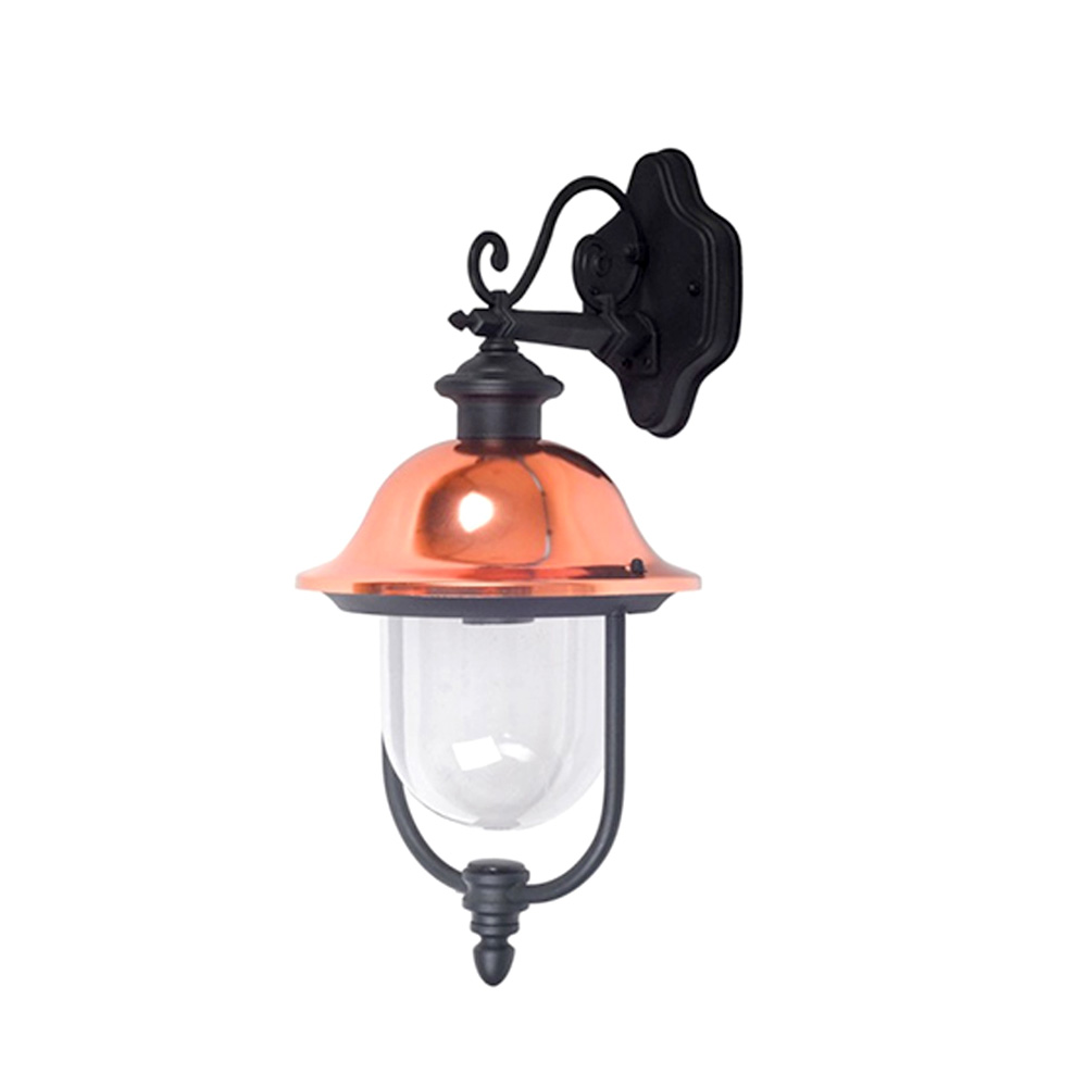 Lampa de Perete pentru Gradina, Corp Negru, Orientata în Jos, 1 x E27