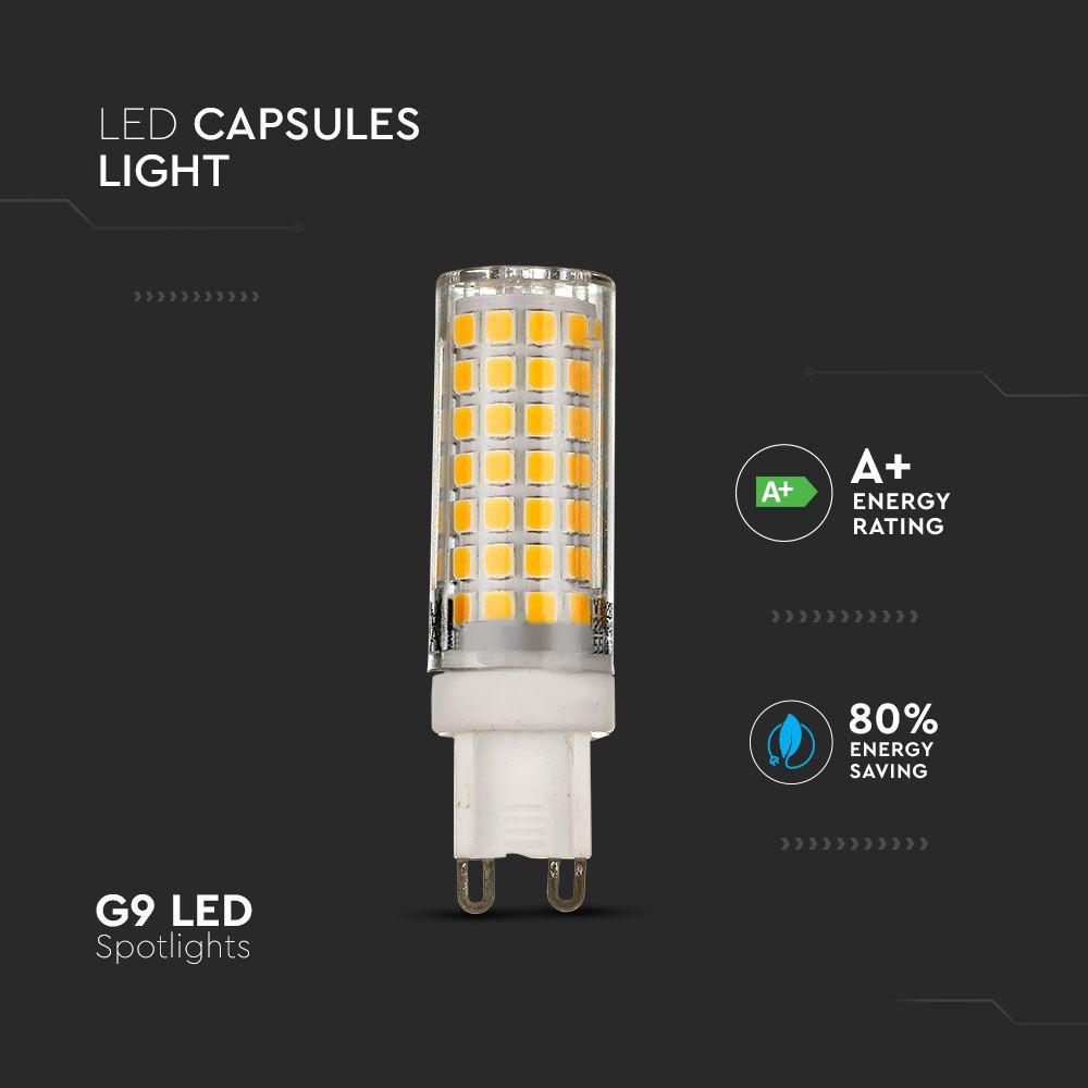 Spot LED 6W, G9, Plastic, Lumina Naturala 4000K