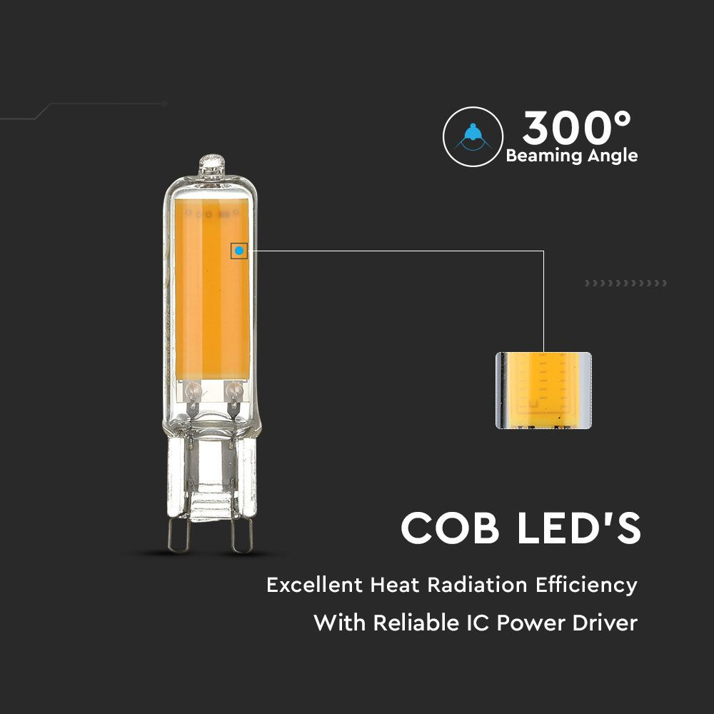 Spot LED G9, 4W, Sticla, Lumina Naturala 4000K