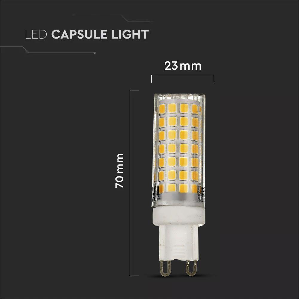 Spot LED G9, 7W, Plastic, Lumina Calda 3000K