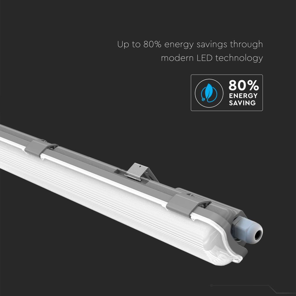 Lampa LED 120cm, 1x18W, Lumina Rece (6400K) Waterproof