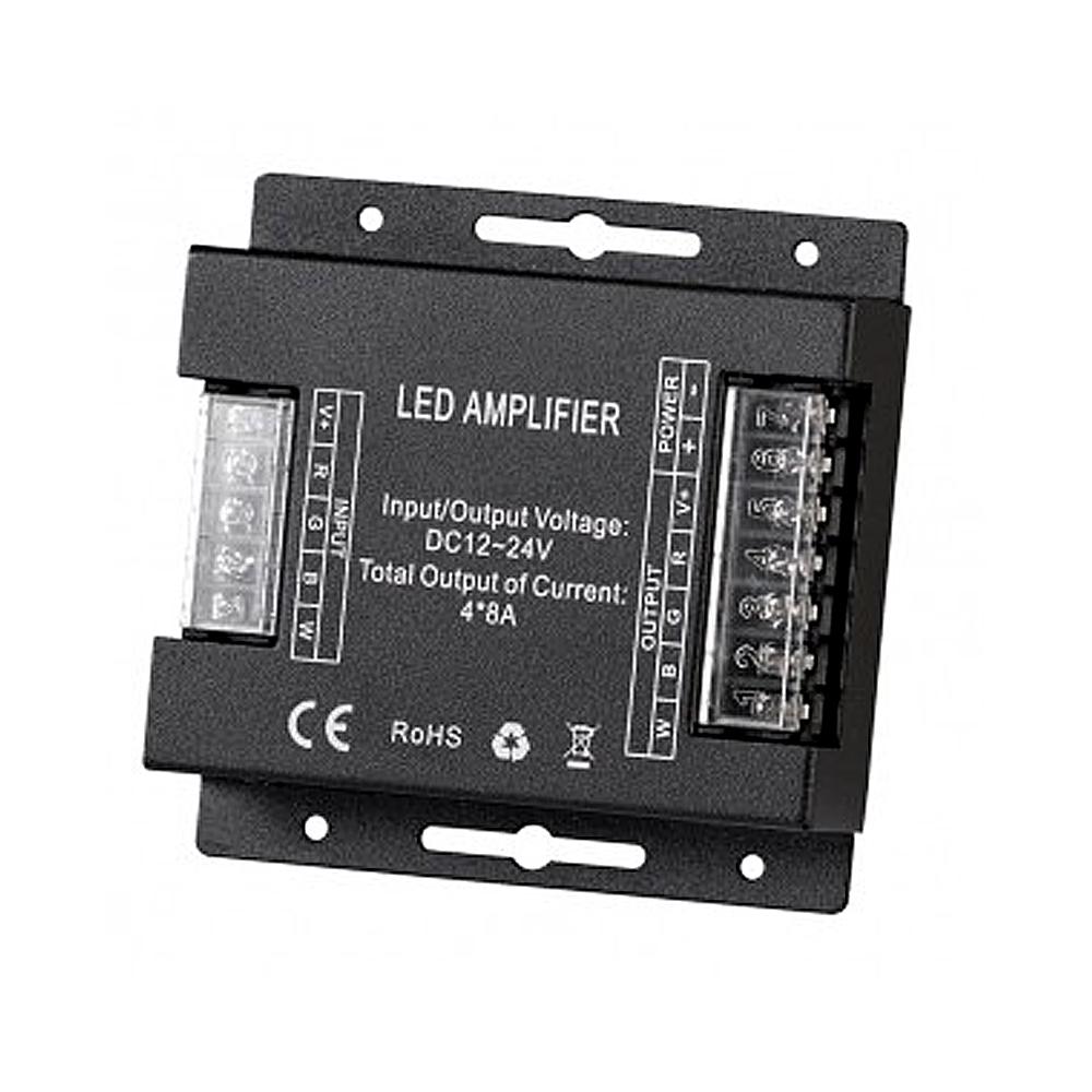 Amplificator RGBW 4x8A,384W (12V), DC 12-24V