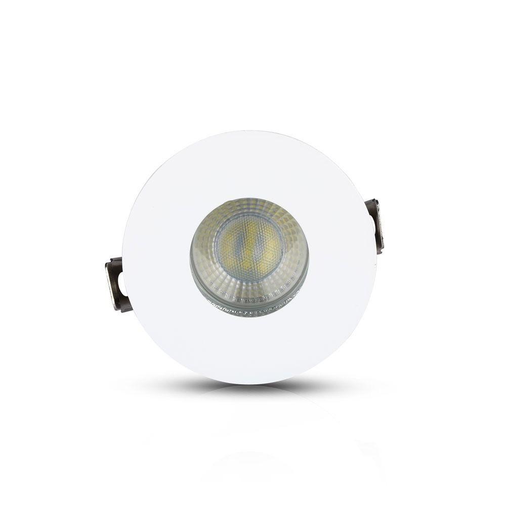 Rama Rotunda GU10, Corp Alb+Crom