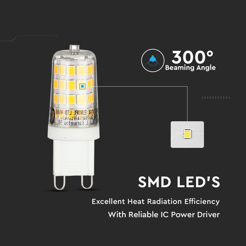 Bec LED 3W, G9, Lumina Naturala 4000K
