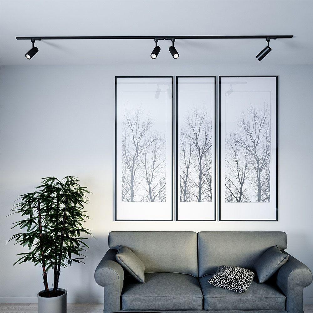 Proiector LED pe Sina 20W, Corp Negru, Lumina Naturala Cip Samsung