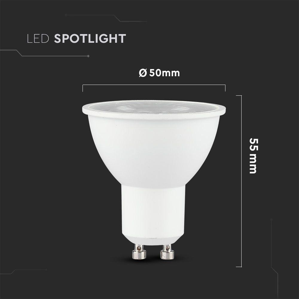 Spot LED GU10, 8W, 38,° Lentila, Lumina Naturala 4000K cu CIP SAMSUNG