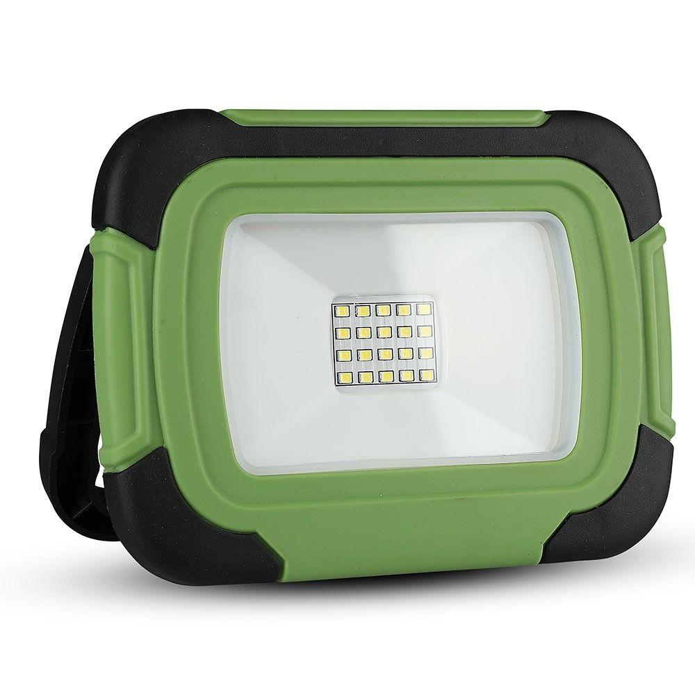 Proiector LED 10W Reincarcabil USB+SOS, IP44, Lumina Rece Cu Cip SAMSUNG