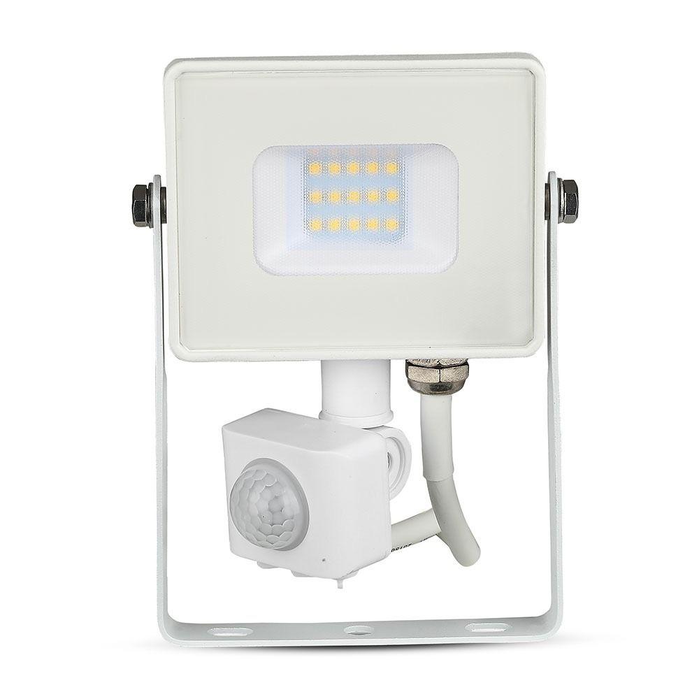 Proiector LED 10W cu Senzor, Functie de decuplare, Corp Alb, Lumina Rece cu cip SAMSUNG