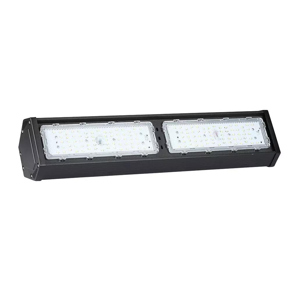 Highbay LED Linear 100W, 120LM/W, Corp Negru, Lumina Naturala (4000K) Cip SAMSUNG