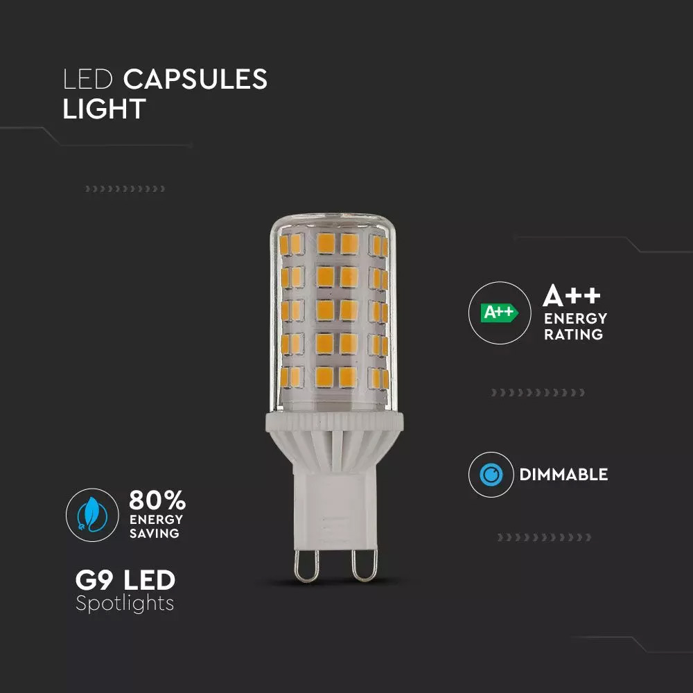 Spot LED 5W, G9, Dimabil, Plastic, Lumina Calda 3000K