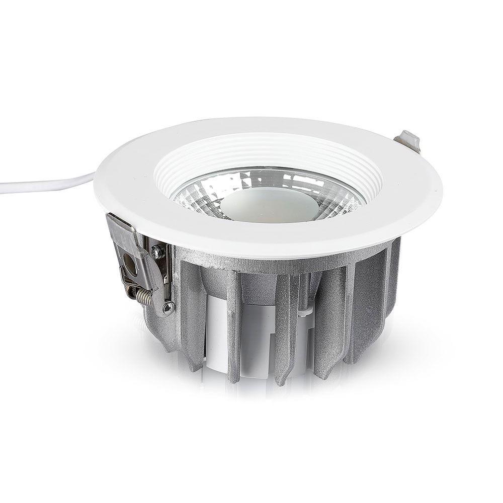 Spot LED 30W, COB Downlight, Rotund, 120Lm/W 4000K cu Alimentator Emergenta 3W-40W, Autonomie 2h