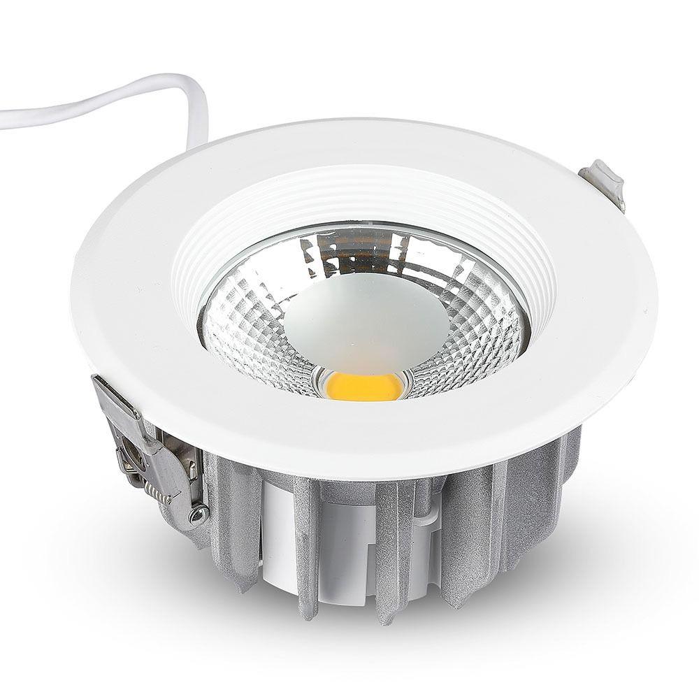 Spot LED 30W, COB Downlight, Rotund, A++ 120Lm/W 4000K cu Alimentator Emergenta 3W-40W, Autonomie 2h