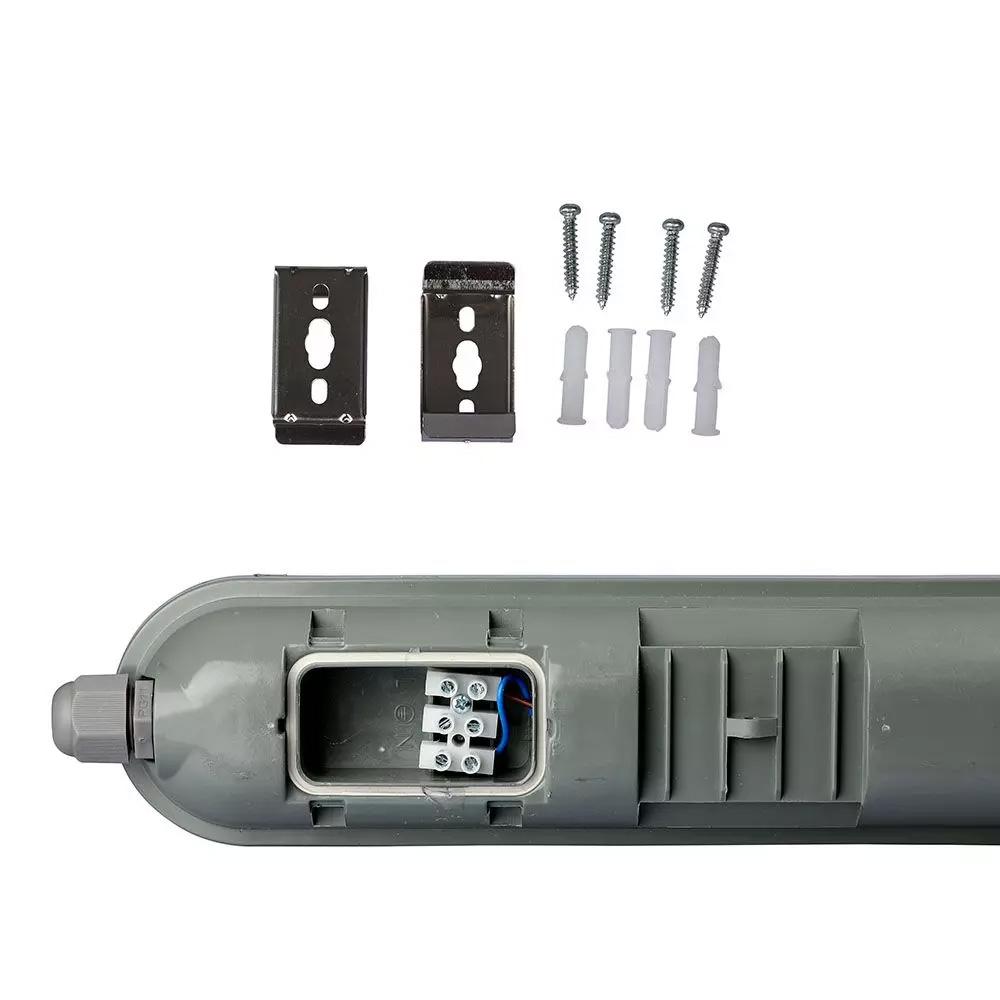 Corp de Iluminat LED 18W, Impermeabil, Liniar, IP65, 600mm, 4500K cu Alimentator Emergenta 3W-40W, Autonomie 2h