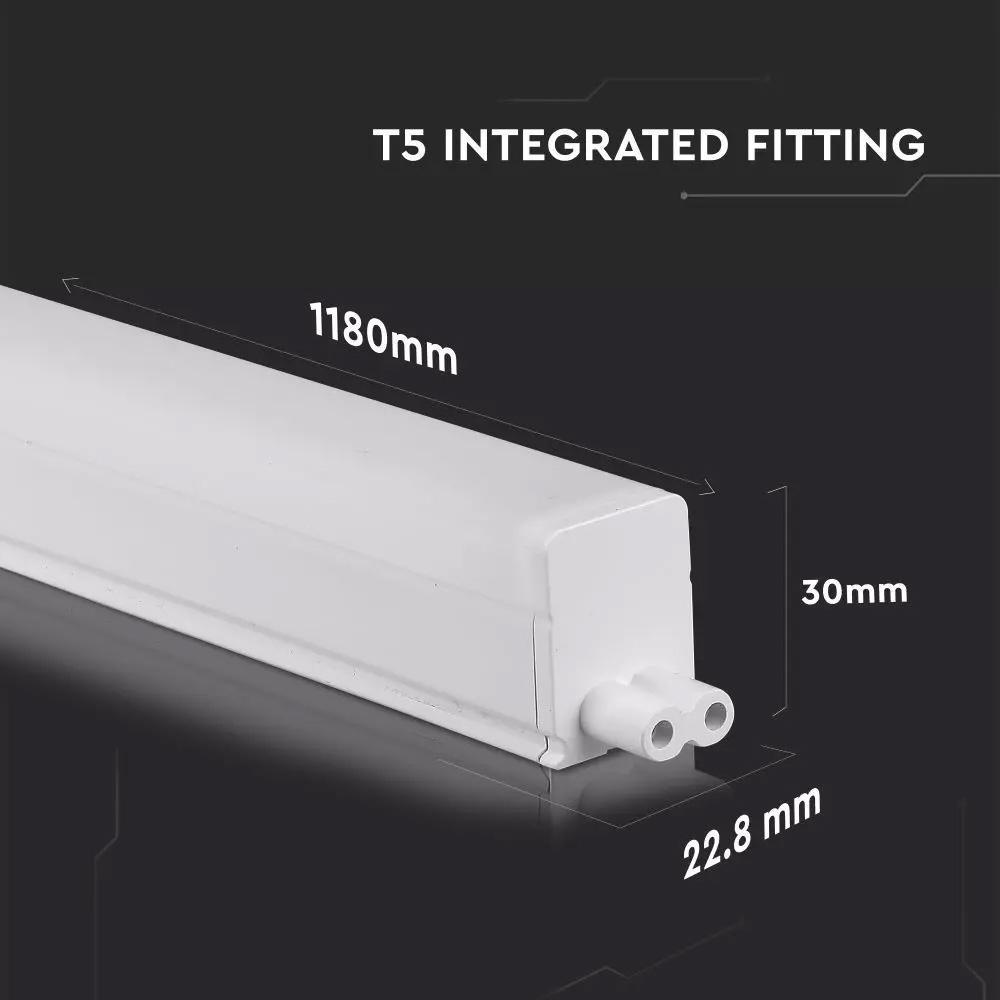 Tub LED 16W, T5, 120cm, Lumina Calda (3000K) cu CIP SAMSUNG