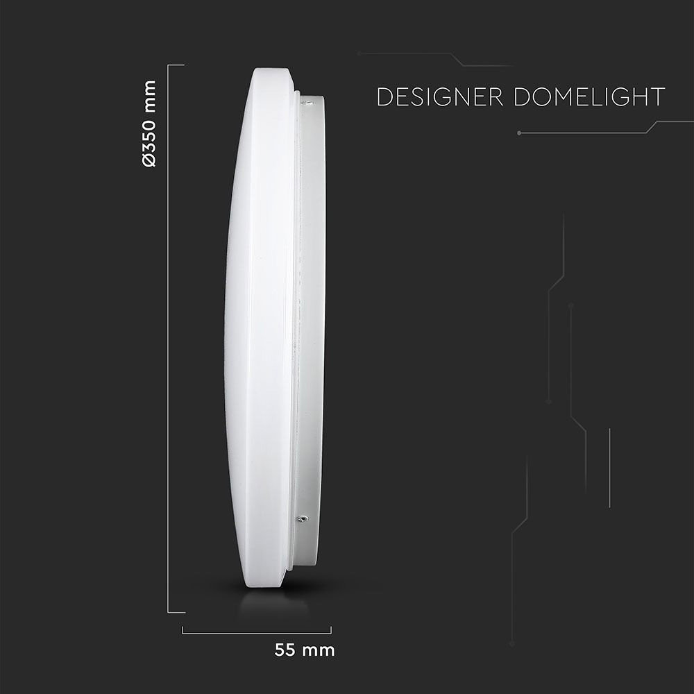 Aplica LED Rotunda 24W, 1440lm, CCT:3 in 1, Dispersor Mat