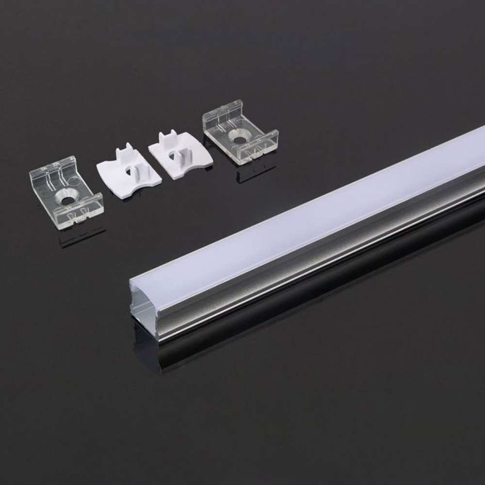 Profil Aluminiu cu Dispersor Mat 2000 x 17.2 x 15.5mm