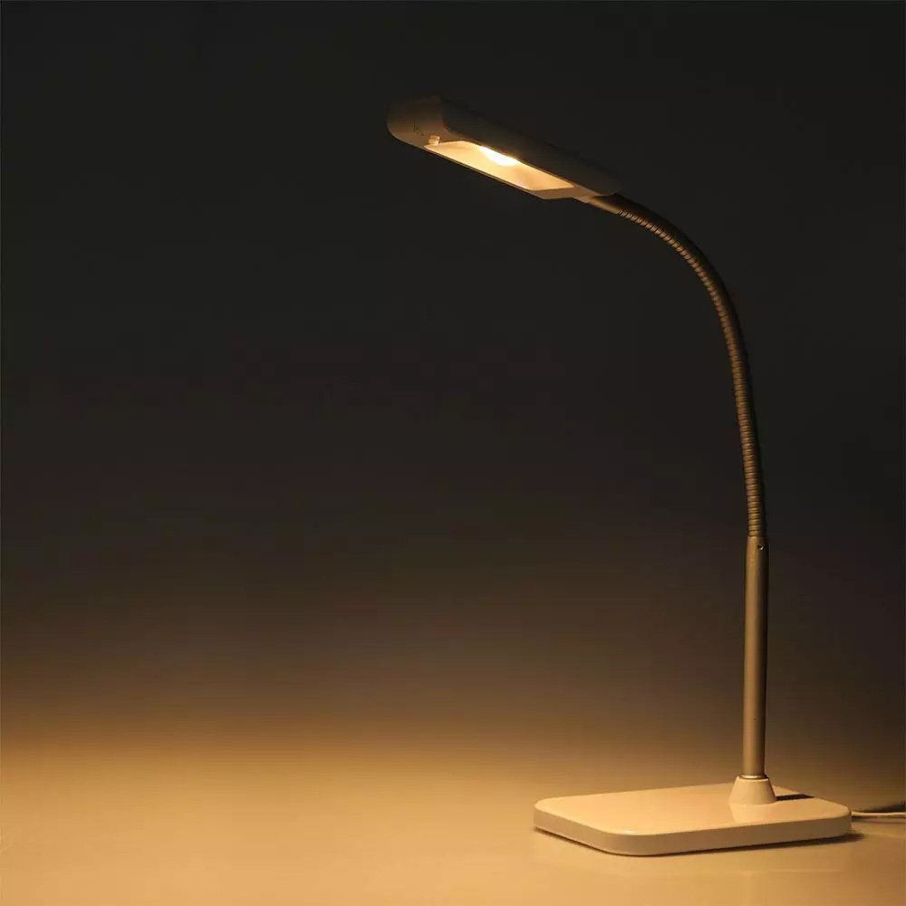 Lampa de Birou LED 3.6W, Corp Alb, Lumina Calda