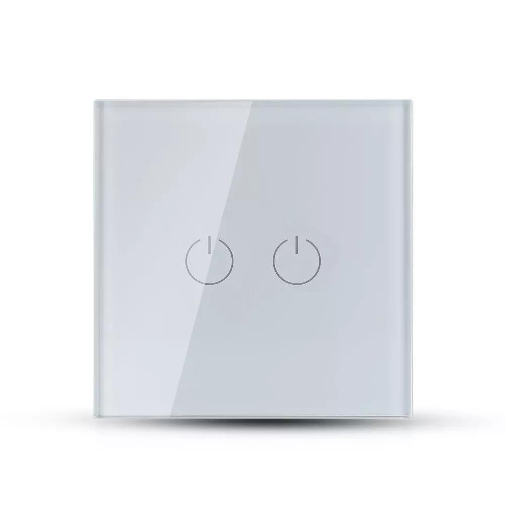 Intrerupator cu 2 Comutatori si 1 Circuit, Culoare Alba