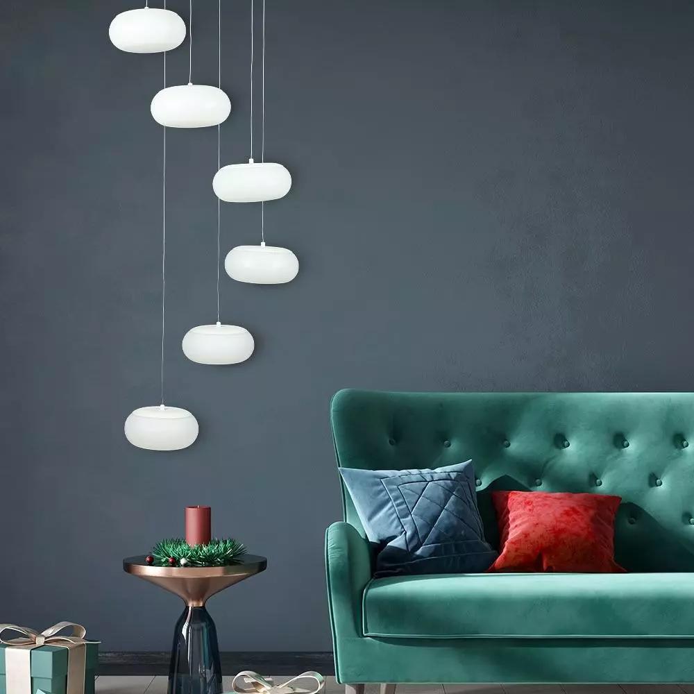 Pendul Suspendat LED Designer 72W, Triac Dimabila, Corp Alb ,Lumina Calda 3000K