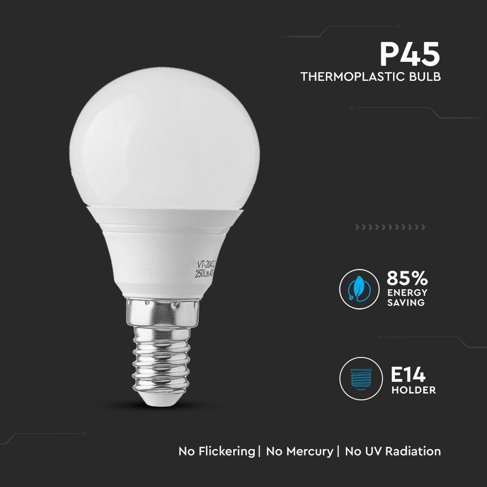 Bec LED 7W, E14, P45, Lumina Rece 6400K