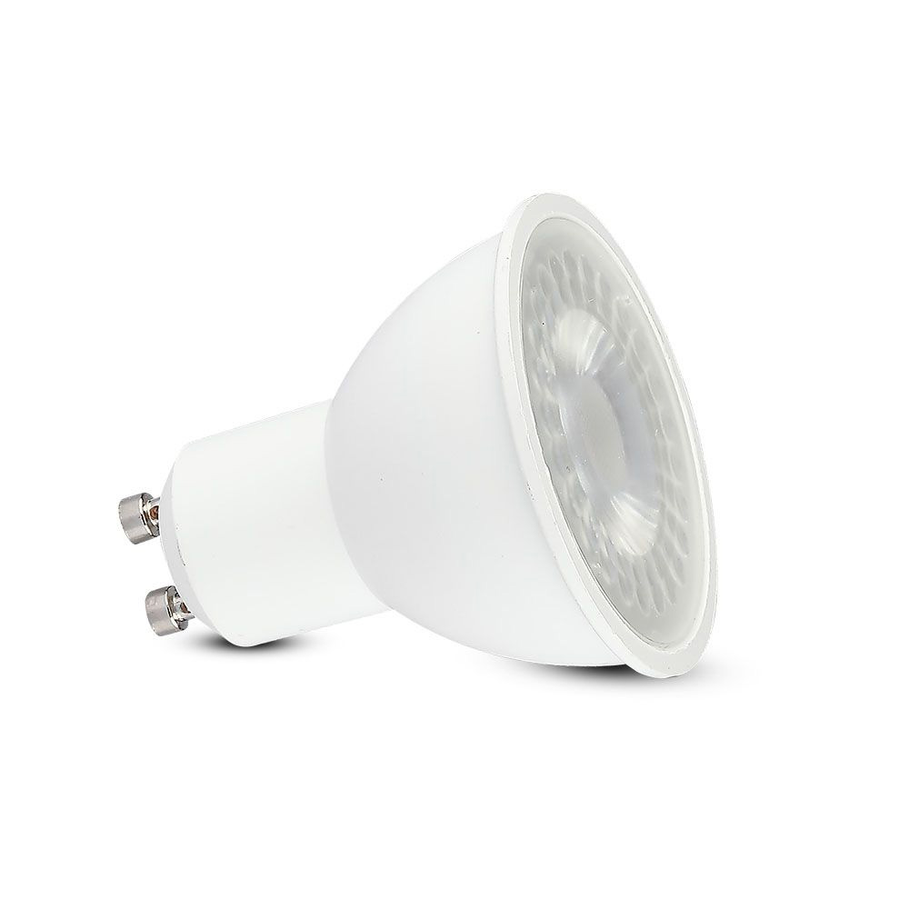 Spot LED 6W, GU10, Plastic cu Lentila, Lumina Naturala 4000K, CRI 95+