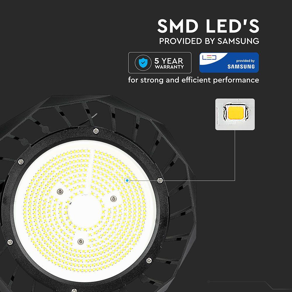 Lampa LED Highbay 100W, Corp Negru, 160LM/W, Lumina Naturala (4000K) Chip SAMSUNG