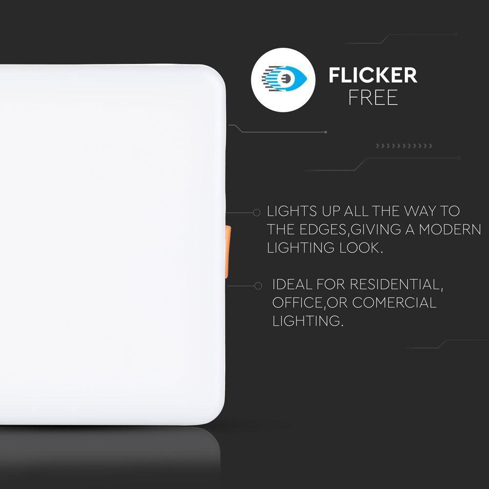 Panou LED Patrat 18W, Ajustabil, Lumina Naturala 4000K Cip Samsung
