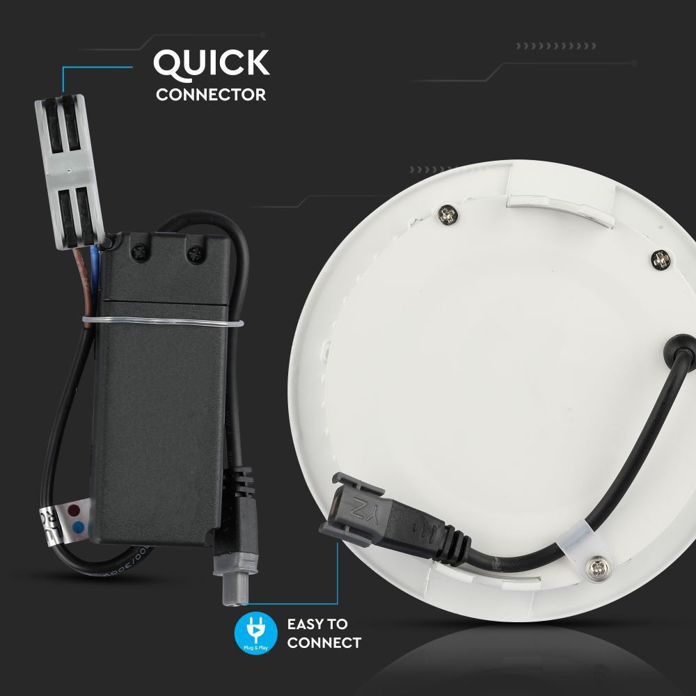 Panou LED Premium 18W, Rotund, Lumina Rece 6400K cu CIP SAMSUNG