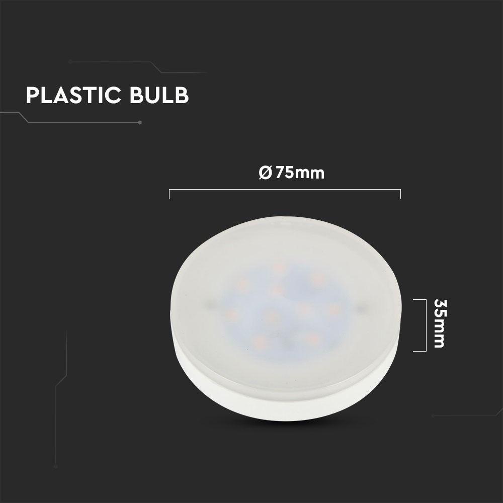 Bec LED 7W Gx53, Plastic, Lumina Calda 3000K Cip Samsung