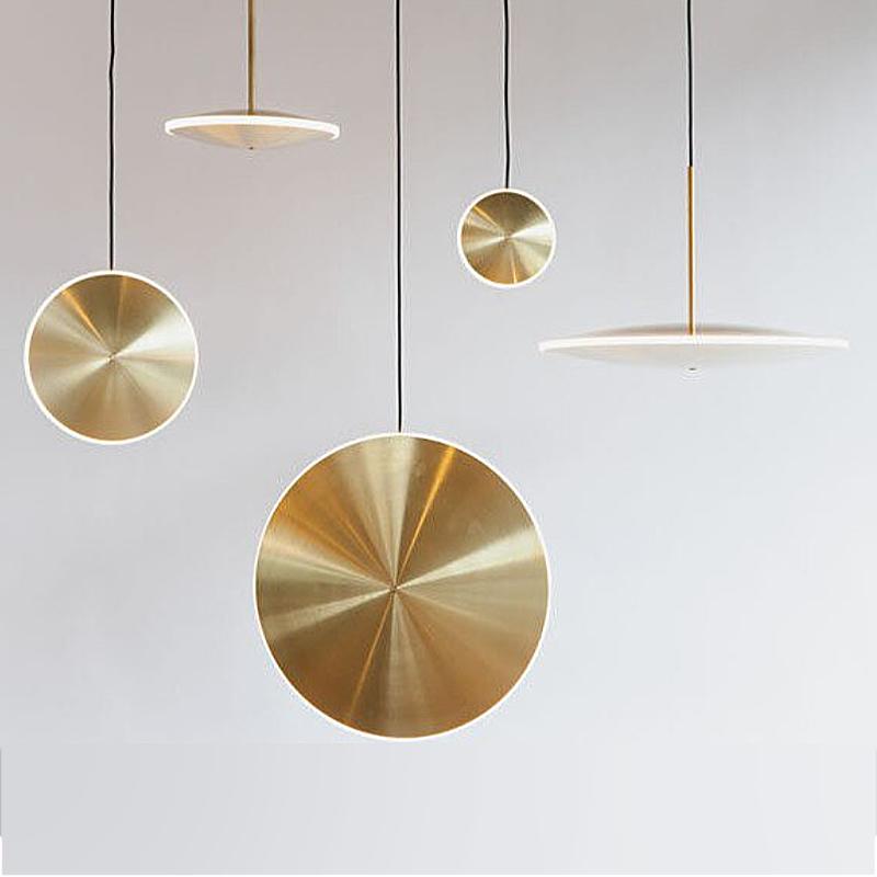 Pendul 7 W, Metal Auriu, Design Vertical 3000 K
