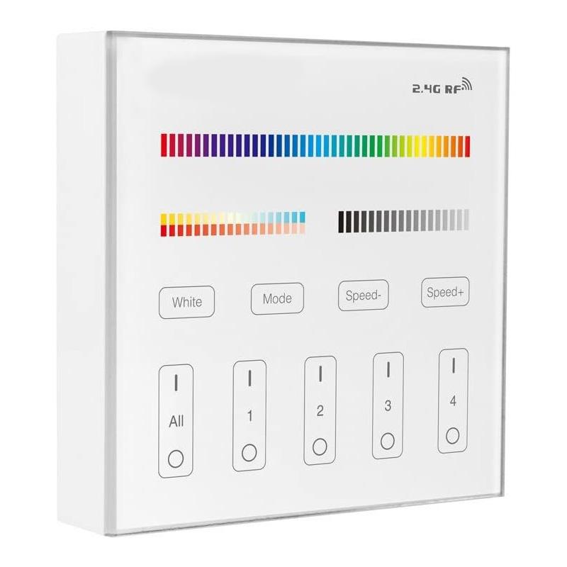 Panou de Comanda 4Zone, Smart, RGB+CCT, 2.4GHz RF Wirelles Control