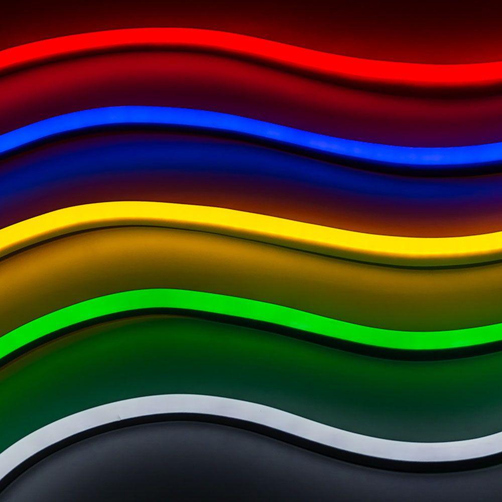 Neon Flexibil 24V, 6.5W/M IP68, Lumina Galbena