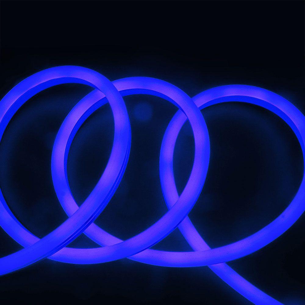 Neon Flexibil 24V, 6.5W/M IP68, Lumina Albastra