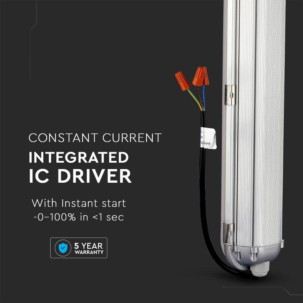 Lampa Liniara LED Impermeabila 70W, 1.5m, Aluminiu, Lumina Naturala (4500K) Cip Samsung, A++