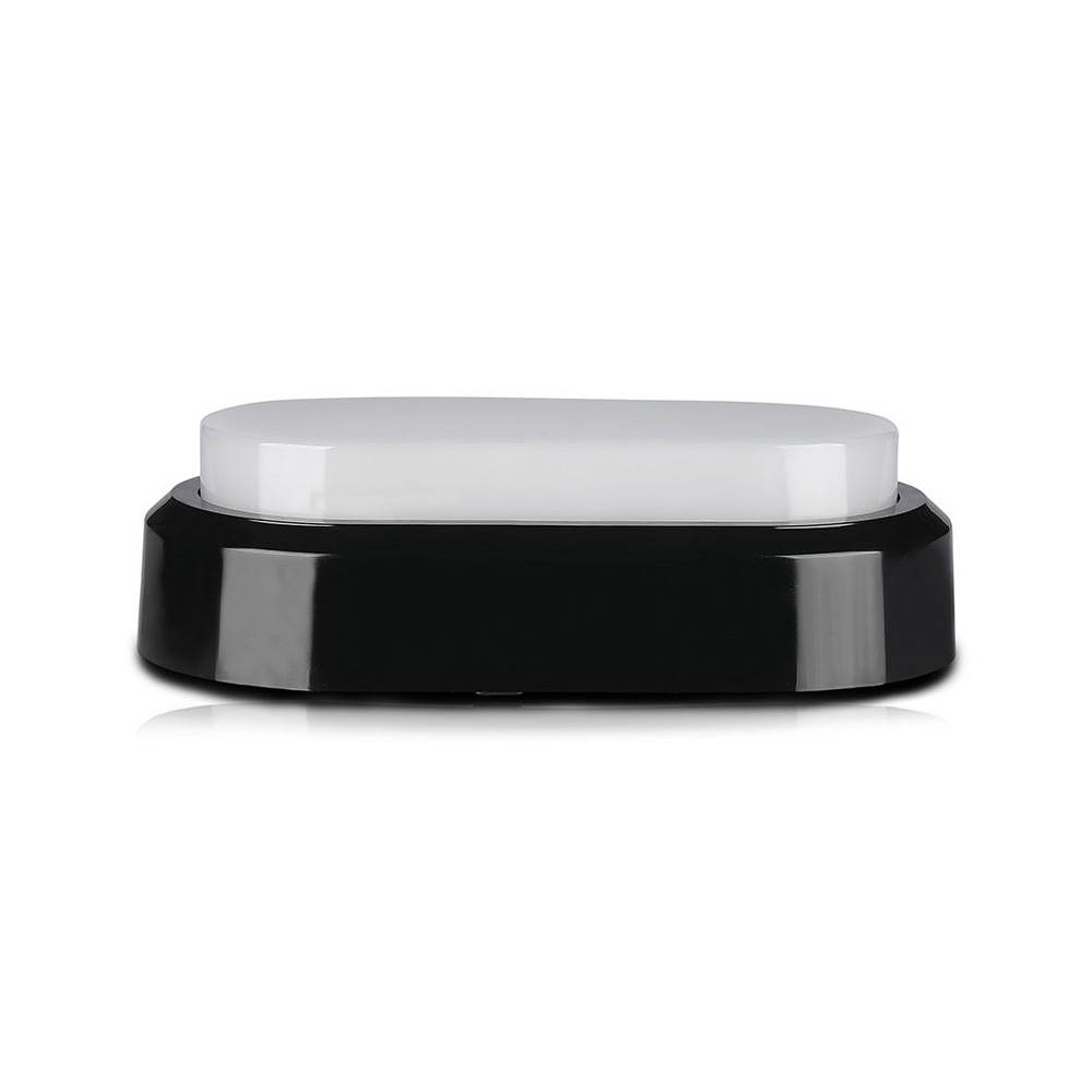 Aplica LED Ovala 8W, Corp Negru, Lumina Calda (3000K) IP54