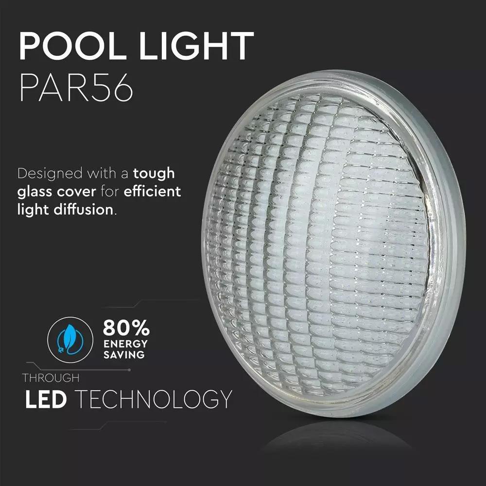Lampa LED de Piscina 12W, PAR56, Lumina Calda (3000K)