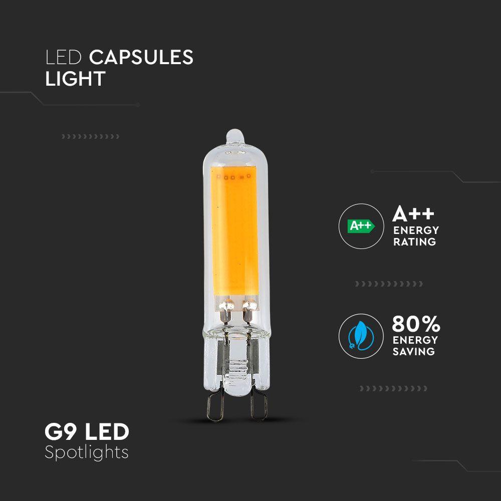 Bec LED G9, 3W, Lumina Calda 3000K