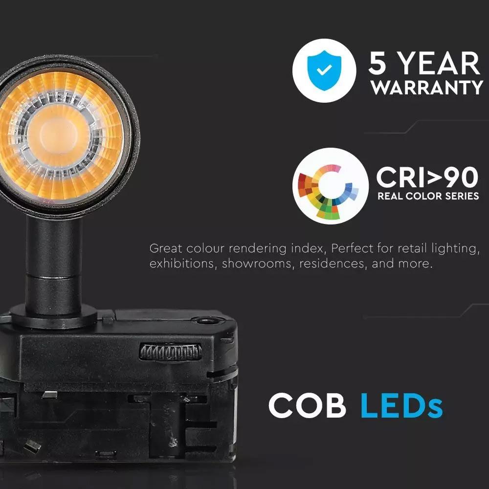 Proiector LED pe Sina 7W, Corp Negru, Lumina Calda CIP SAMSUNG