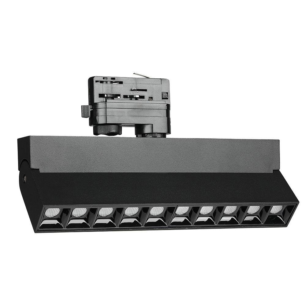 Corp de Iluminat LED Liniar Pe sina 25W, Corp Negru, Lumina Calda Cip SAMSUNG
