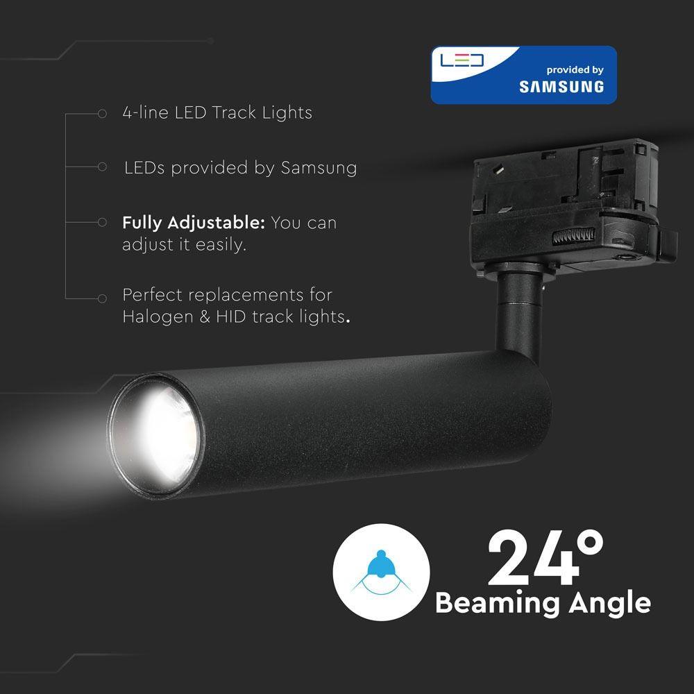 Proiector LED pe Sina 20W, Corp Negru, Lumina Calda CIP SAMSUNG