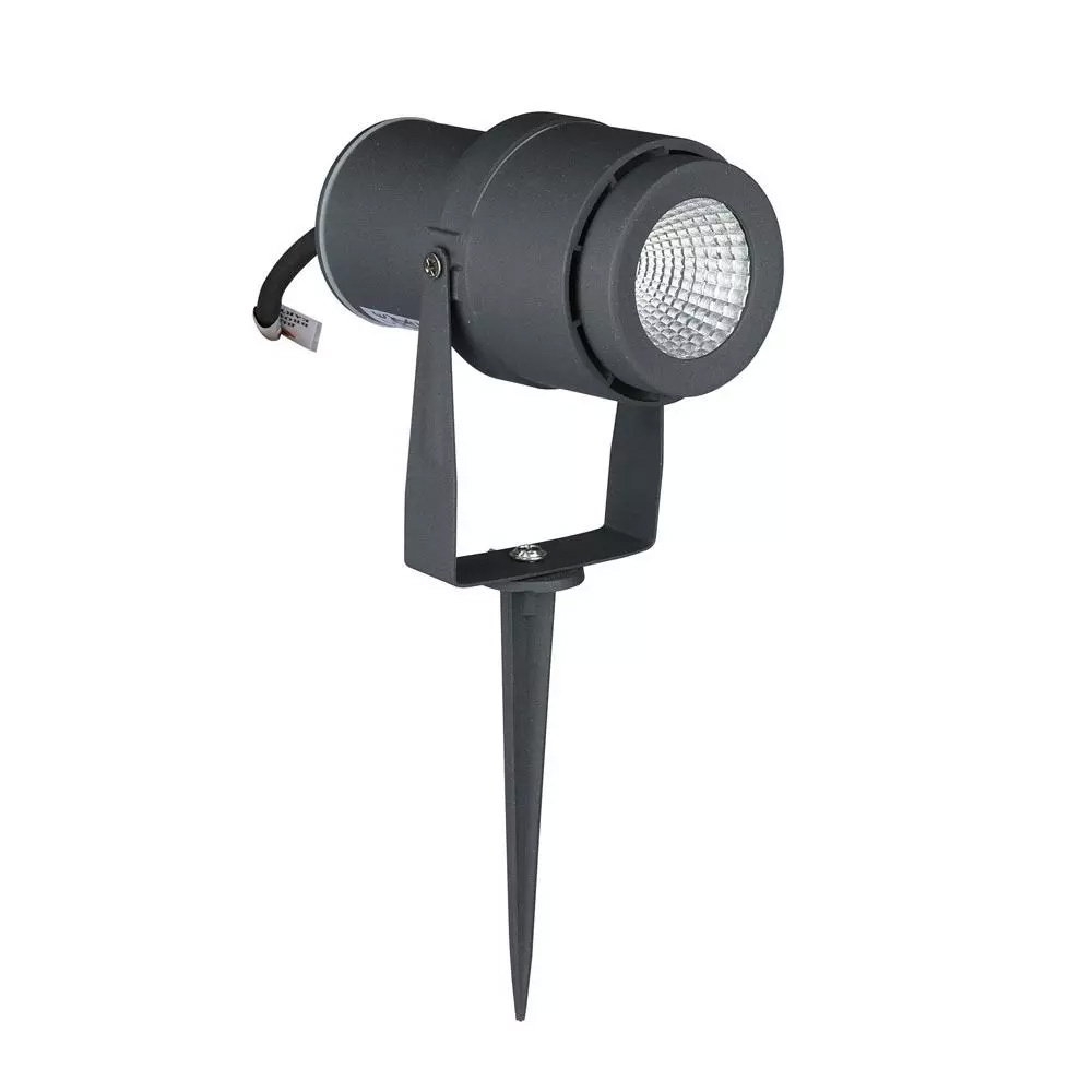 LAMPA LED GRADINA 12W CU TEPUSA, CORP GRI, LUMINA CALDA 3000K