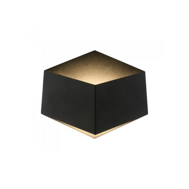 Lampa de perete 3W cu CIP Bridgelux, Corp Negru, Lumina Calda