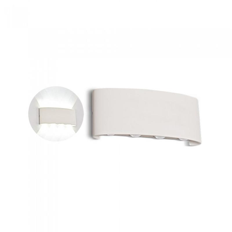 Lampa LED 6W pentru Perete Sus&Jos Nisip, Corp Alb, IP54, Lumina Calda (3000K)