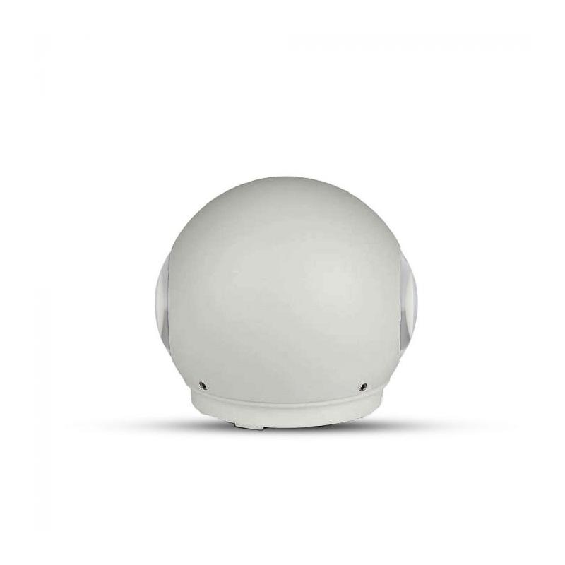 Lampa LED 6W, Rotunda, Corp Gri, IP65, Lumina Calda (3000K)